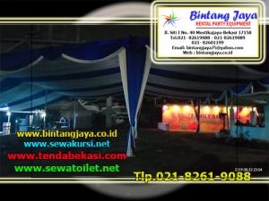 sewa tenda dekorasi serut biru putih